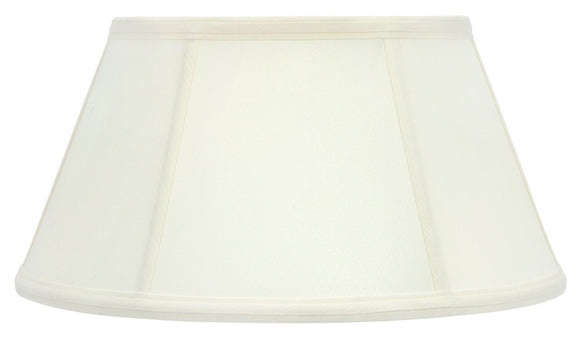 Upgradelights Eggshell Silk 14 Inch Bouillotte Style Lampshade Replacement