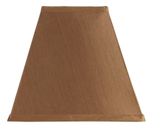 Upgradelights Copper Silk Square Mission Style 10 Inch Nickel Clip On Lampshade