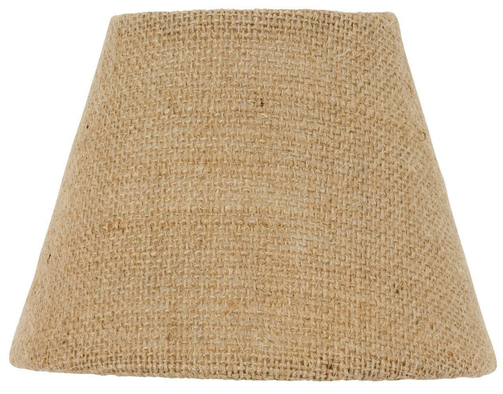 Beige Burlap 14 Inch Drum Portable Swag Lamp Shade