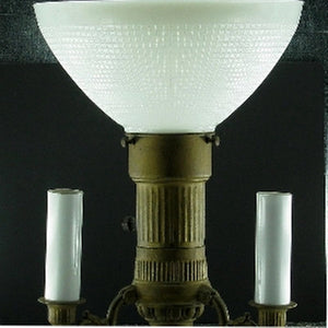 UpgradeLights White Opal Glass 10 Inch Globe Diffuser IES Lampshade Replacement (Edison covers included)