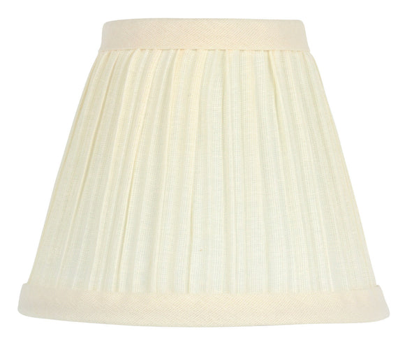 UpgradeLights Eggshell 5 Inch Pleated Retro Drum Chandelier Lamp Shade