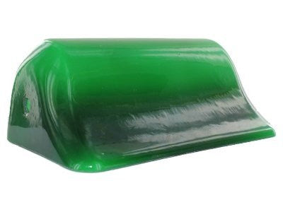 UpgradeLights Green Glass 9 Inch Duck Bill Bankers Lampshade Replacement
