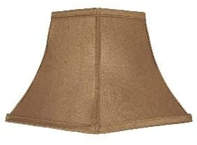 Bronze 10 Inch Square Bell Washer Lampshade Replacement with Matching Harp and Finial