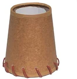 Oiled Parchment 4 Inch Tapered Drum Clip On Chandelier Lamp Shade with Stitched Trim