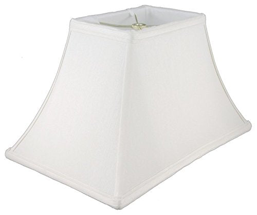 Upgradelights White Silk 14 Inch Rectangle Bell Washer Lampshade Replacement