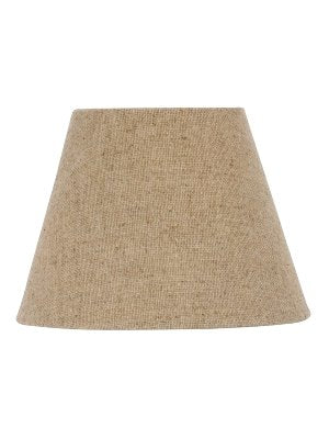 Beige Burlap 12 Inch Empire Lampshade with Washer Fitter 6x12x7.75