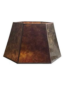 Amber Mica 16 Inch Hex Floor Lampshade 10.25x16x10