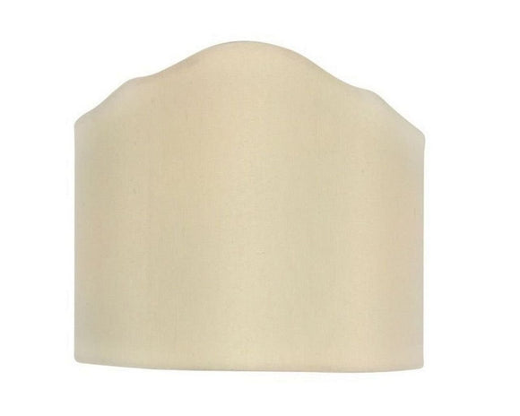 Upgradelights Eggshell 6 Inch Wall Sconce Clip on Shield Lamp Shade with scalloped design