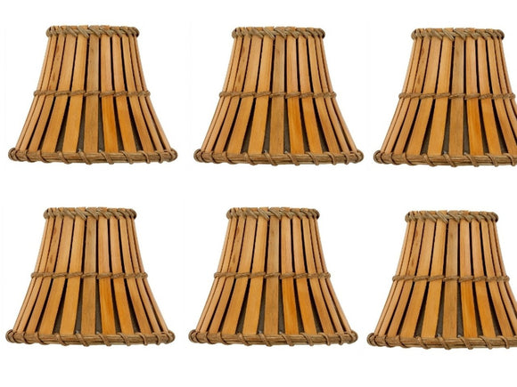 UpgradeLightsÌÎå«Ì´å Set of 6 Bamboo Style 5 Inch Mini Chandelier Shades Clip on Shades