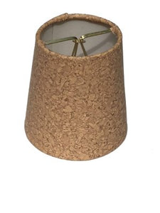 Natural Cork 4 Inch Retro Drum Clip On Chandelier Lampshade 3x4x4