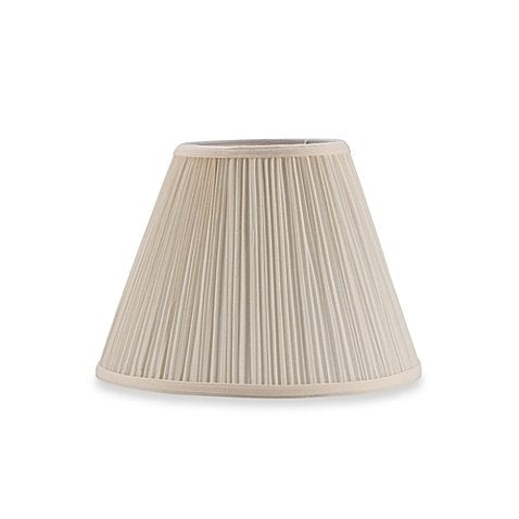 Eggshell Mushroom Pleat 10 Inch Clip on Lampshade Replacement (6x10x7.5)