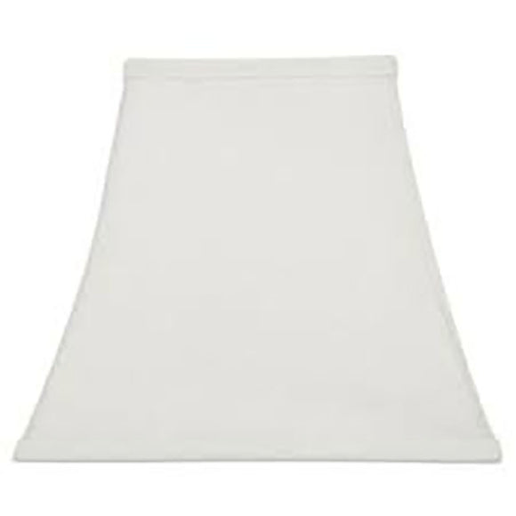 UpgradeLights Square Bell 8 Inch Clip on Candle Stick Replacement Lamp Shade White