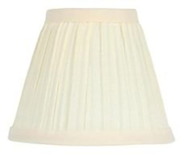 Upgradelights Eggshell Silk 6 Inch Mushroom Pleated Clip on Chandelier Shades (Set of 6)