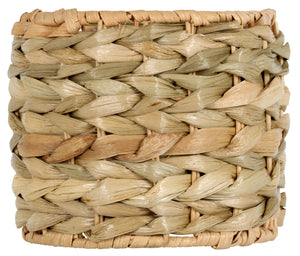 UpgradeLights Seagrass 5 Inch Drum Clip On Chandelier Lamp Shade