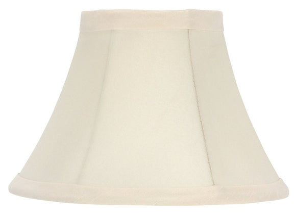 UpgradeLights Set of 2 Chandelier Lamp Shades 6 inch Eggshell Silk(Ui20)