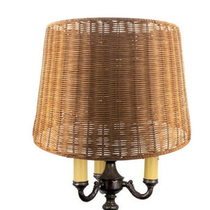 UpgradelightsÌÎå«Ì´å Medium Brown Woven Wicker 16 Inch Floor or Table Lampshade