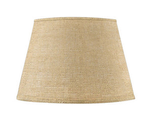 UpgradeLights Beige Burlap 14 Inch Retro Tapered Drum Lamp Shade Replacement