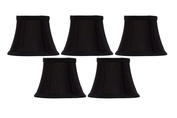 Upgradelights Set of 5 Bell Clip On 5 Inch Chandelier Lampshade Replacement (2.5 x 5 x 4)