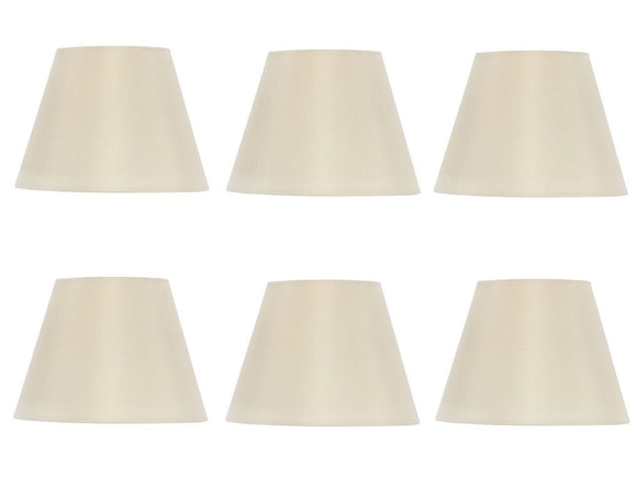 UpgradeLights Set of Six European Drum Chandelier Lamp Shade Silk Eggshell Color(Ui6)