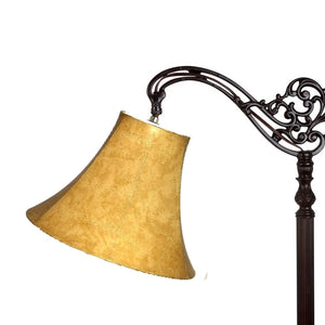 Tan Leatherette 12 Inch Bell Lampshade with Uno Fitter 8x12x8.5