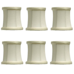 UpgradeLights Eggshell Silk 3 Inch Drum Clip On Chandelier Lamp Shades (Set of 6)