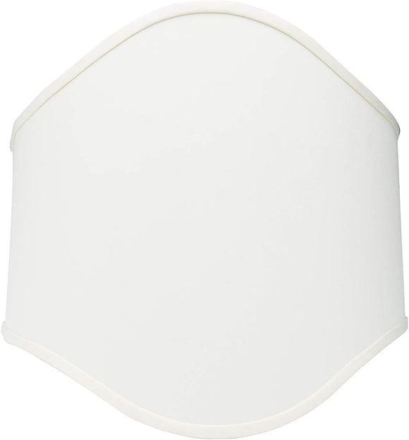 Wall Sconce Larger Shield Half Lamp Shade 14 Inch Eggshell Silk