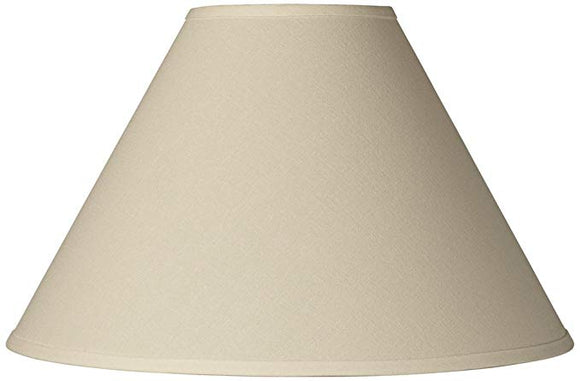 Beige Linen 10 Inch Round Flare Chimney Style Oil Lampshade Replacement