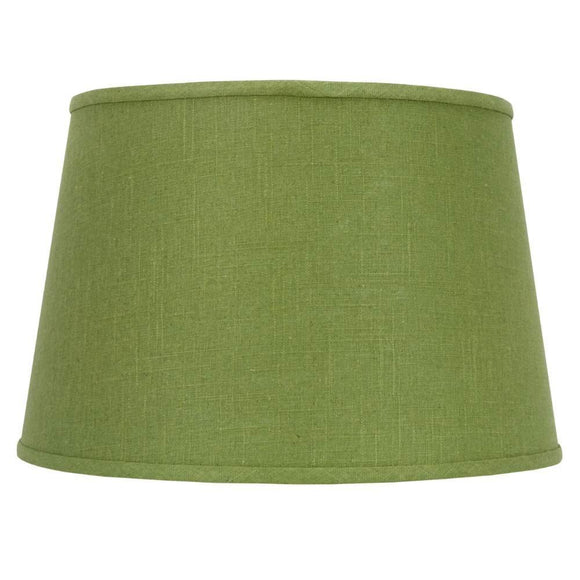 Apple Green Linen 16 Inch Drum Floor or Table Lampshade 13x16x10.5