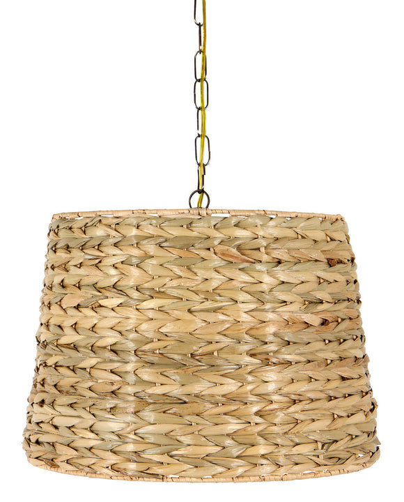 UpgradeLights Woven Seagrass 16 Inch Drum Portable Swag Lampshade