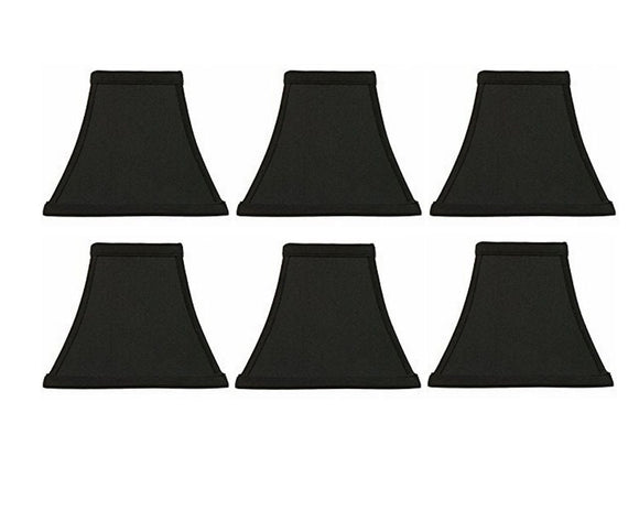 Square Bell 6 Inch Clip On Chandelier Lampshade (Set of 6) 3x6x6