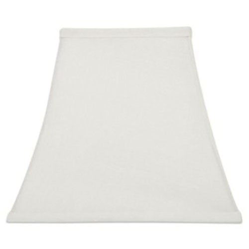 Upgradelights White Silk 12 Inch Tapered Square Bell Lampshade Replacement