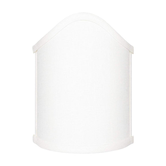 White Linen Scalloped Wall Sconce Shield Clip On Lamp Shade