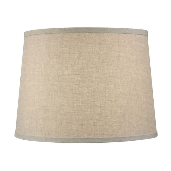 Beige Linen 16 Inch Tapered Drum Table Lampshade 13x16x10.5