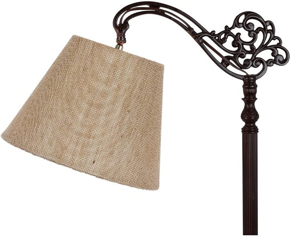 Beige Burlap 8 Inch Empire Lampshade with Uno Fitter