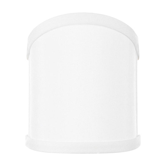 4 Inch Wall Sconce Shield Clip On Lamp Shade (Off White Silk)