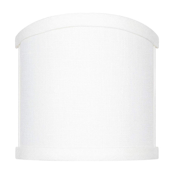 4 Inch Wall Sconce Shield Clip On Lamp Shade (White Linen)