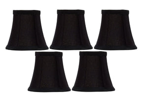 Upgradelights Set of 5 Bell Clip On 4 Inch Chandelier Lampshade Replacement (2.5 x 4 x 3.75)