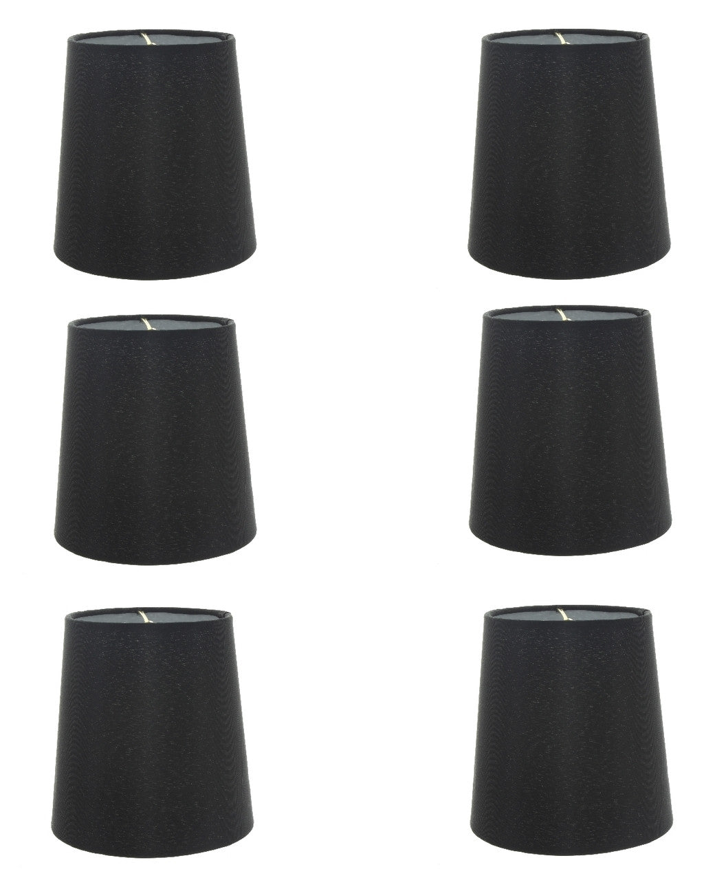 Set of 6 silk chandelier lamp shades 5 inch euro style drum black set of 6 silk chandelier lamp shades 5 inch euro style drum black silk arubaitofo Image collections