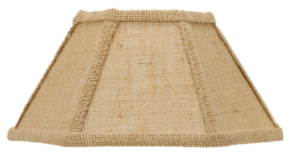 UpgradeLights Beige Burlap 12 Inch Hex Shaped Chimney Style Oil Lampshade Replacement