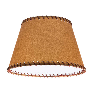 Oiled Parchment 18 Inch Empire Washer Fitter Lamp Shade with Stitched Trim