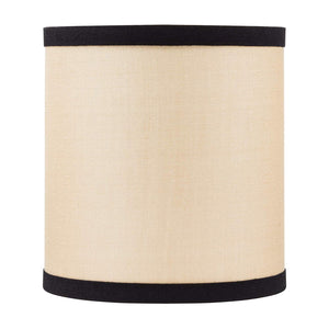 Natural Silk with Black Trim Drum Chandelier Lampshade (4 Inch)