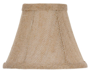 "UpgradeLightsÌÎå«Ì´å 6"" Natural Linen Barrel Bell Chandelier Lamp Shade"