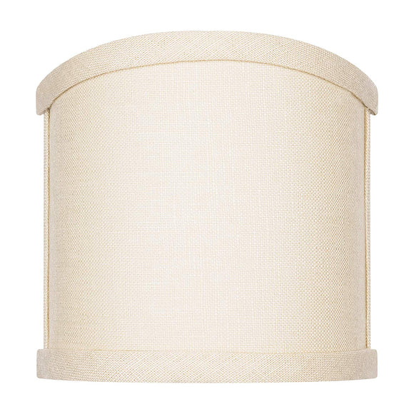 4 Inch Wall Sconce Shield Clip On Lamp Shade (Beige Linen)