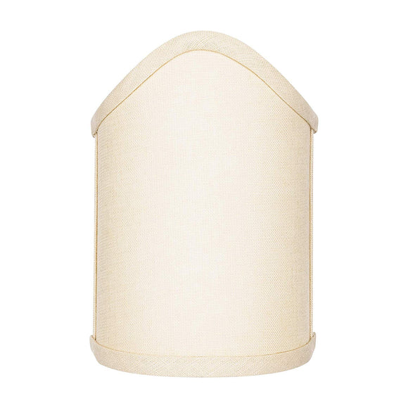 Beige Linen Scalloped Wall Sconce Shield Clip On Lamp Shade