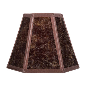 Upgradelights Mica 5 Inch Craftsman Style Hex Clip On Chandelier Lampshade in Amber 2.75 x 5 x 4 Inches