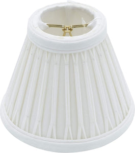 Cream Silk 5 Inch Empire Mini Clip On Chandelier Lamp Shade