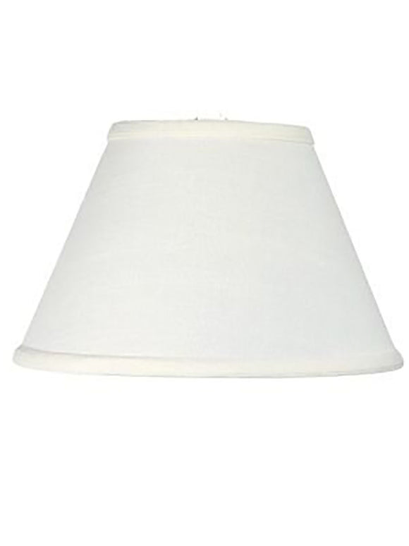Upgradelights 12 Inch Empire Style Washer Lampshade Replacement (White)