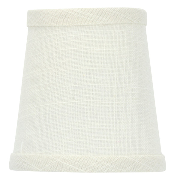 UpgradeLights Off White Linen 4 Inch Chandelier Shade