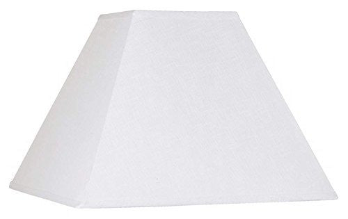 Upgradelights White Linen Square Mission Style 8 Inch Nickel Clip On Lampshade
