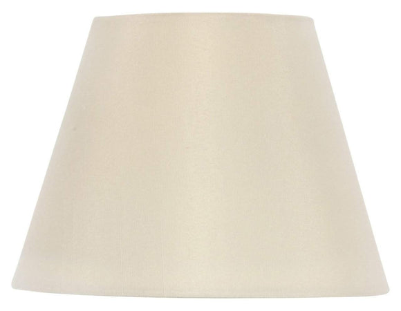 UpgradeLights Drum Style Chandelier Lamp Shade 6 Inch Eggshell Silk Clips Onto Bulb